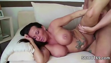 Mom Seduce German Step-guy to Fuck Her after Shower