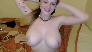 Young slut with tight big natural boobs show