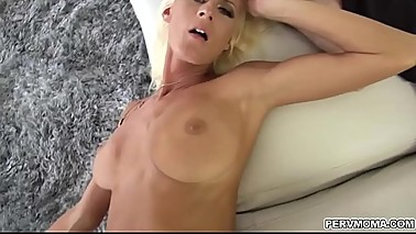Milf pussy is getting romp from behind by a stepsons long erected cock!
