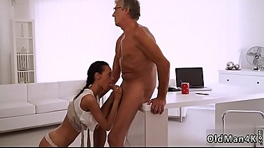 Old mom and young girl Finally she'_s got her chief dick