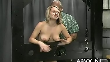 Extreme servitude with hot mom and young daughter