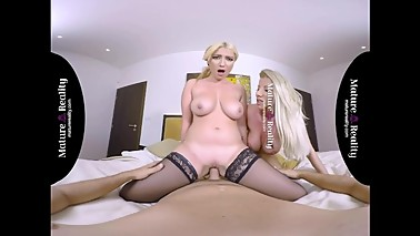 MatureReality - StepMom and Daughter Fight for a Threesome