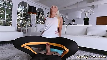 Teen swallows two loads Stretching Your Stepmom