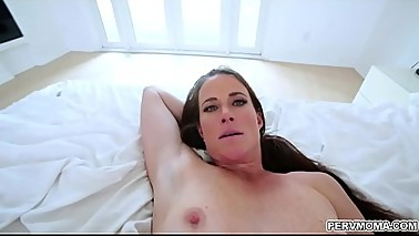 Step momma is so hot riding her stepsons huge cock!