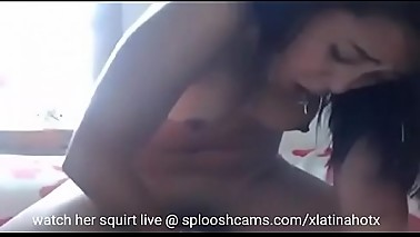 Big Butt Mexican From SplooshCams.com Squirts All Over Her Moms Bed