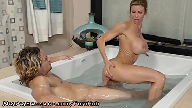 guy Caught Step-Mommy Alexis Fawx Working at Nuru Massage!