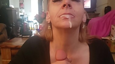 Amateur Blonde MILF Mom catches stepguy decides to teach him a lesson