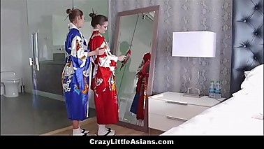 Little Young Asian Teen Step Daughter Taught Geisha From MILF Step Mom