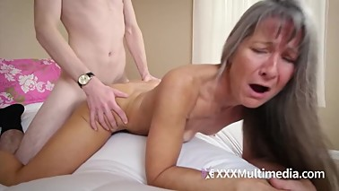 MILF mom fucks stepdaughter's young boyfriend - Leilani Lei and Fifi Foxx