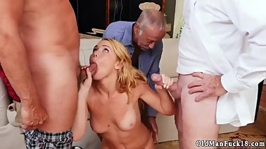 Old mom anal sex Frannkie And The Gang Tag Team A Door To Door Saleswoman