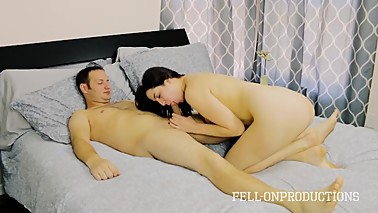 MILF Mom plays with pussy while watching daughter and brother fuck