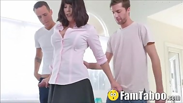 Stuck Stepmom Given Younger Cock By Both guys